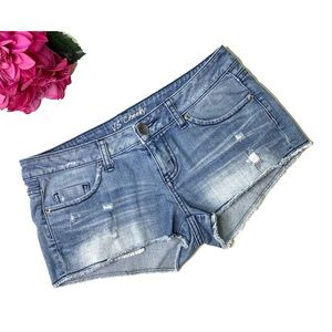 VICTORIAS SECRET Cheeky Distressed Jean Shorts 6